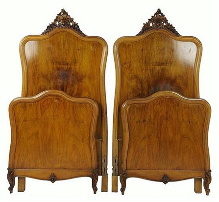 Pair of Louis Xv style beds - £230
