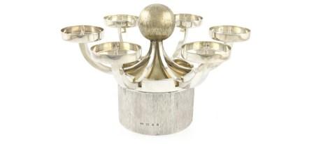 Christopher Lawrence parcel-gilt silver centre-piece