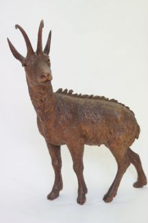 Antique carved chamois