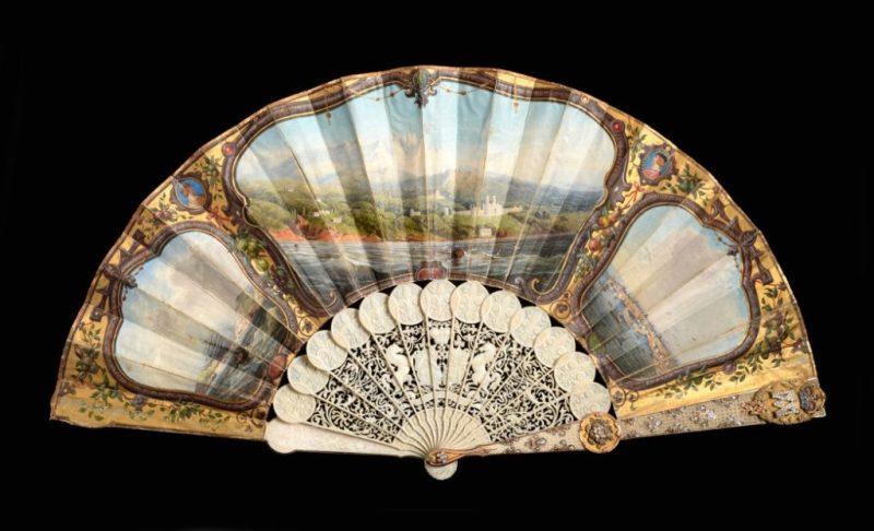 An antique Russian fan in Yorkshire sale