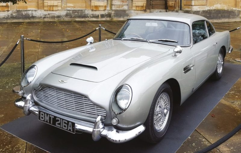 The Aston Martin from James Bond film Casino Royale