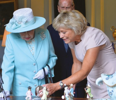 The Queen with Hilary Kay Antiques Roadshow expert