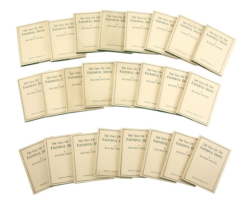 The group of Beatrix Potter First Editions in sale