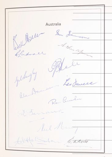 The book of cricket autographs