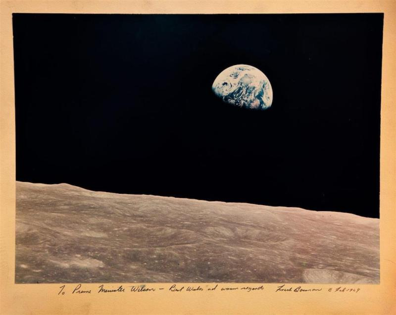 hotograph by Frank Borman, NASA astronaut and Commander of Apollo 8