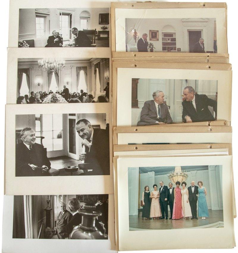 Harold Wilson meeting President Lyndon B Johnson
