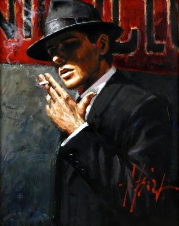 Fabian Perez, Man At The Red Sign