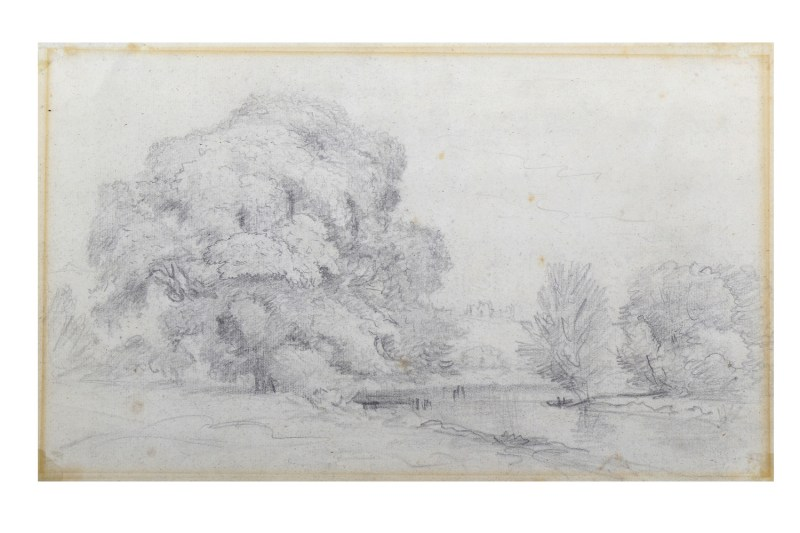 John Constable landscape drawing