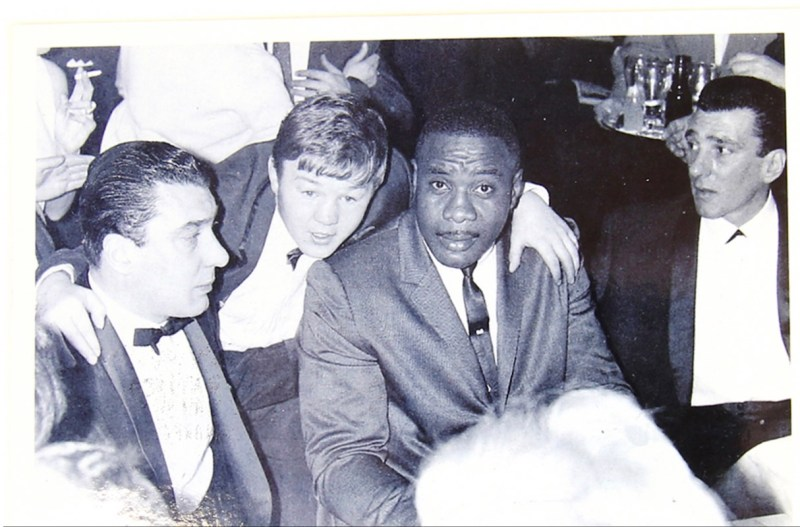 Reggie and Ronnie Kray with Sonny Liston