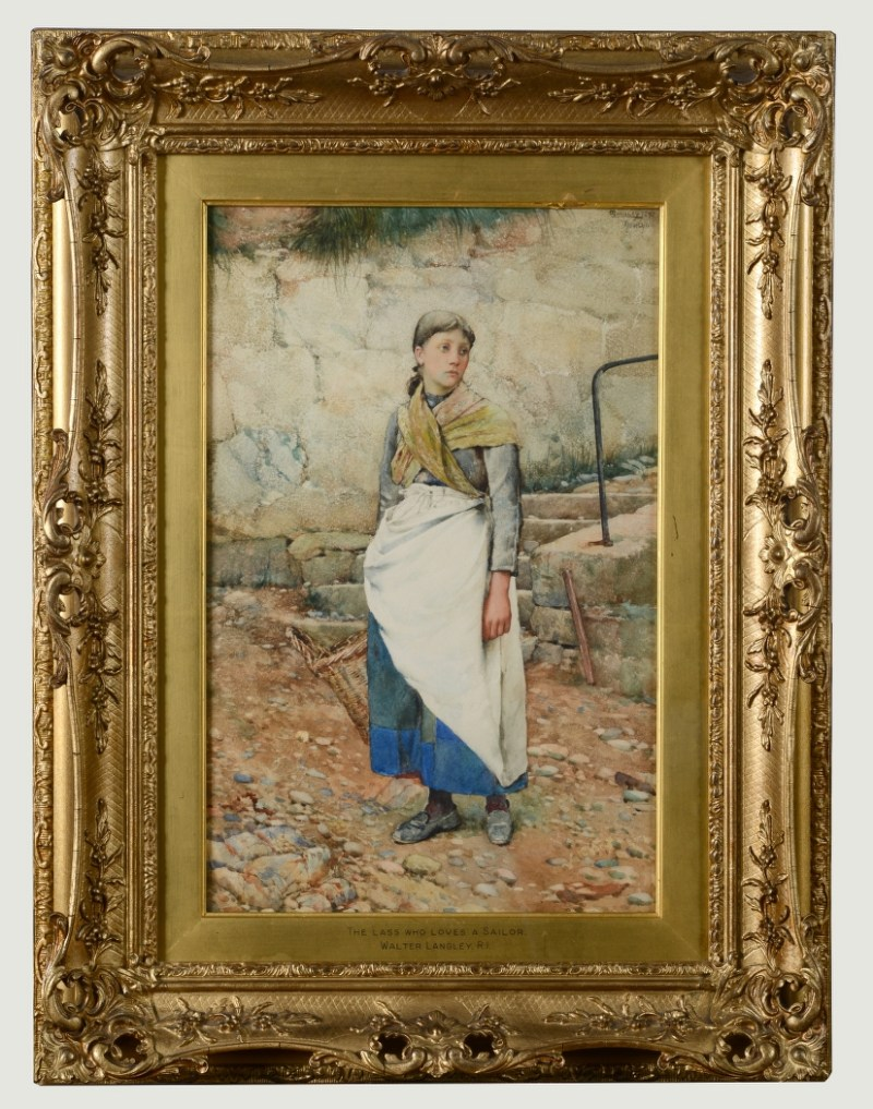 Painting of The Lass Who Loves A Sailor - Walter Langley