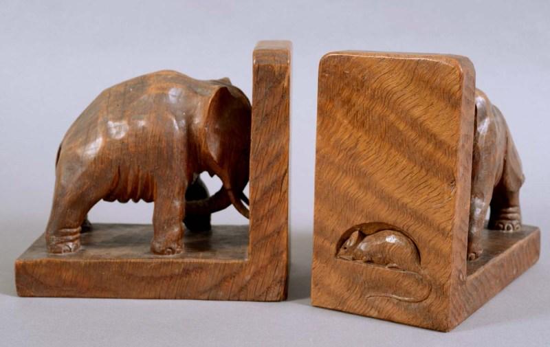 Robert Mouseman Thompson elephant bookends
