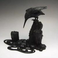 古銅製カワセミ置物