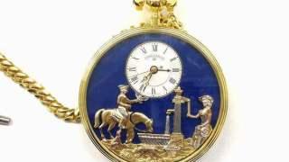 リュージュ 18金からくり懐中時計