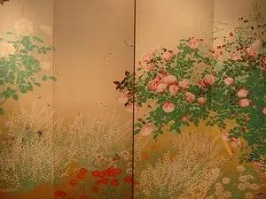 花鳥画の屏風