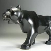 銘秀明 銅製虎のオブジェ