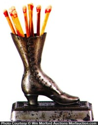 Antique Advertising | Boot Match Holder  Antique Advertising