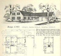 gambrel roof house floor plans vintage home plans gambrel ...
