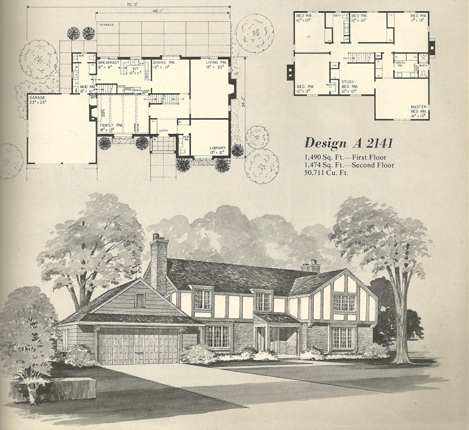Vintage Antique Home Style House Plans