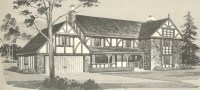 Vintage House Plans 1970s: English Style Tudor Homes