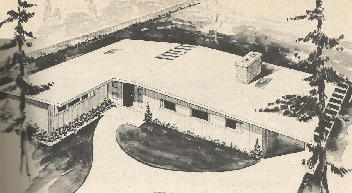 Vintage House Plans 1950s Farm Colonial Ranch and Duplex