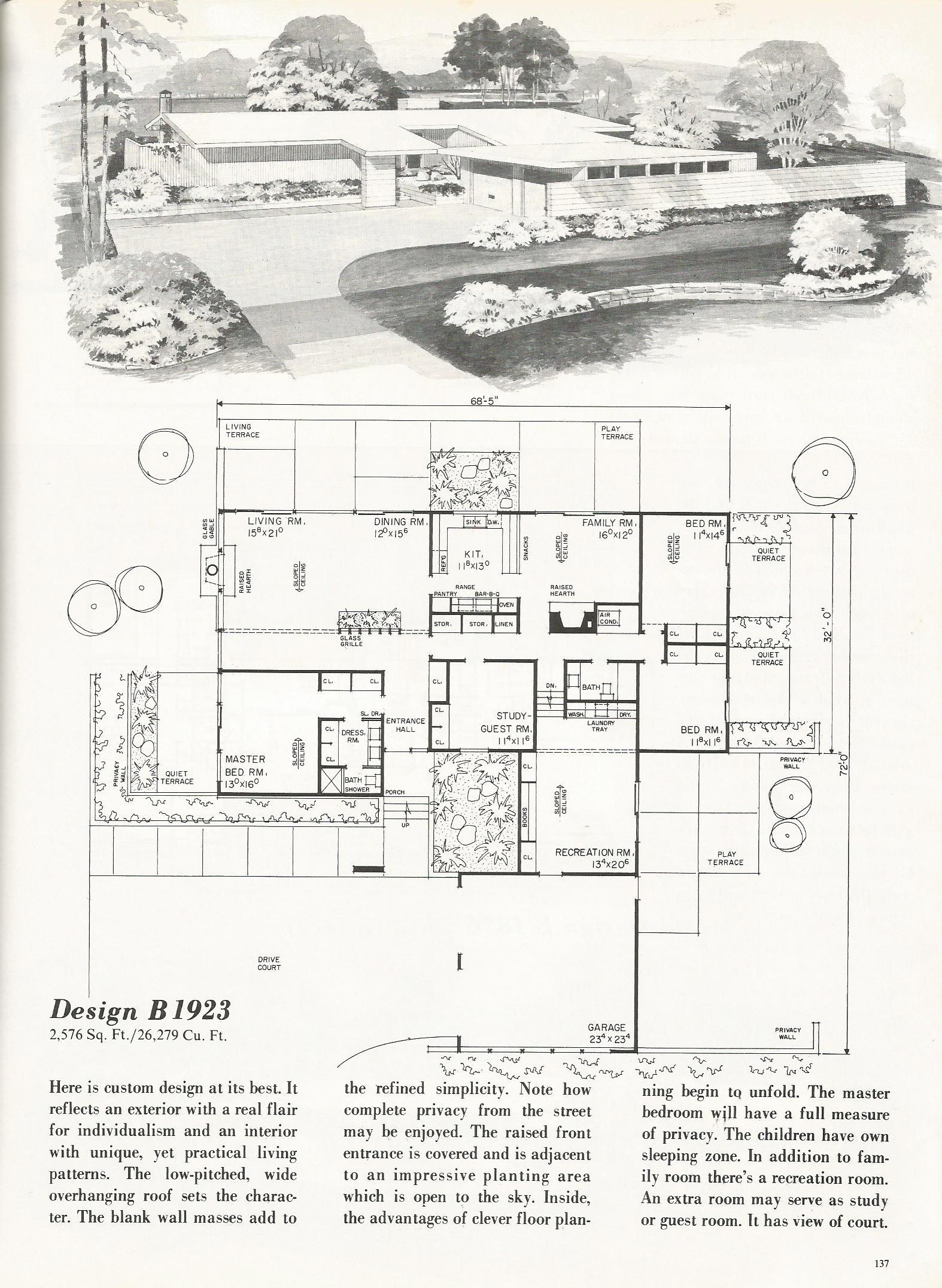 Vintage House Plans 1923