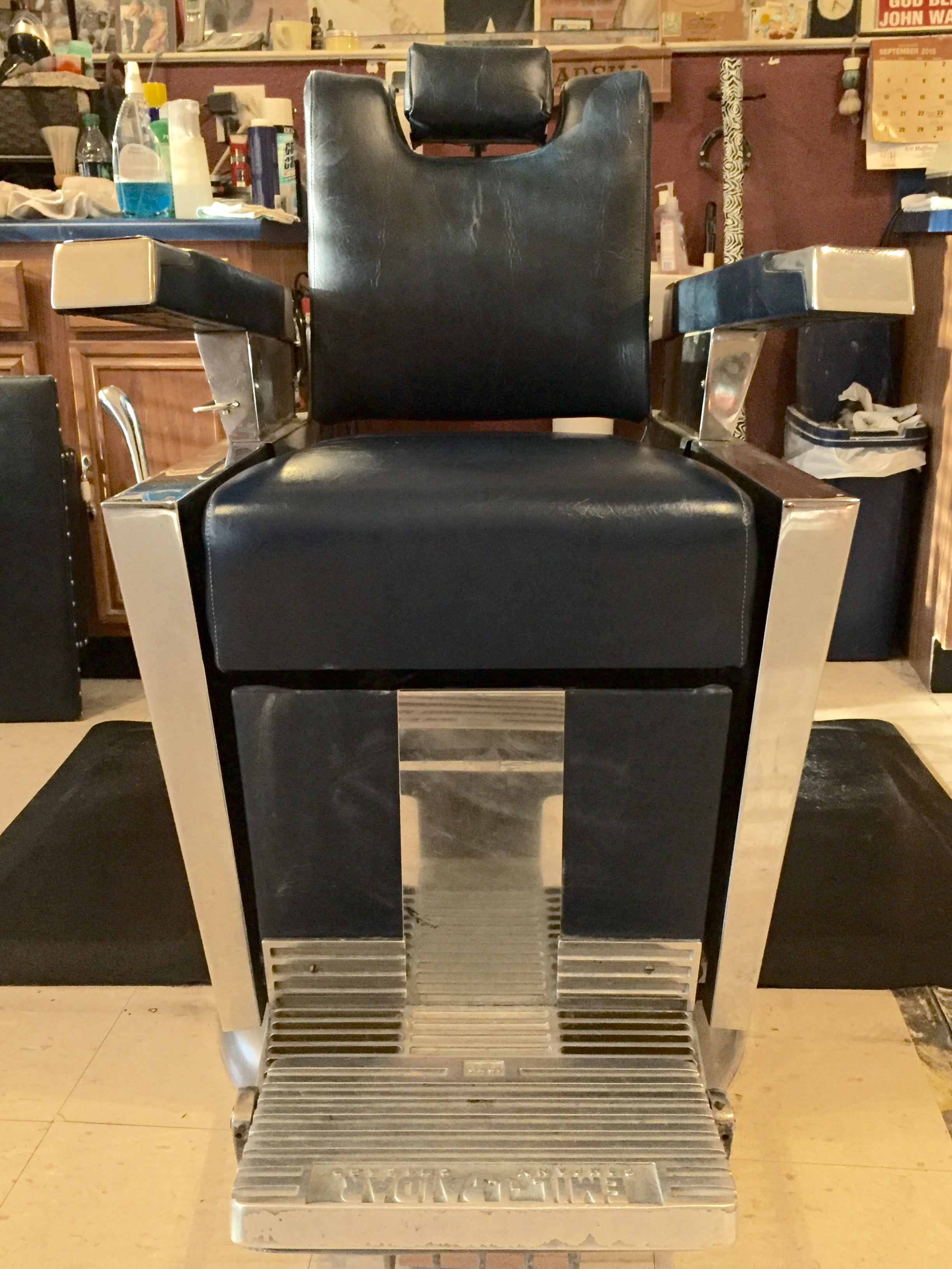 Vintage Barber Chair 2 Twin Sister Emil J Paidar 1959 Antique Barber Chairs