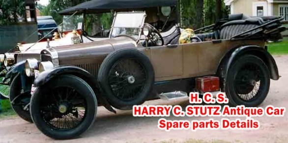 H. C. S. HARRY C. STUTZ Antique Car Spare parts Details