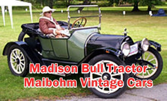 This Article is about Madison Bull Tractor & Maibohm Vintage Cars : Information include Value,Engine,Battery,Cylinders and Other Spare parts details.