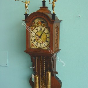 Friesian tail clock parts vintage