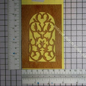 Fretwork sound windows wood unfinished