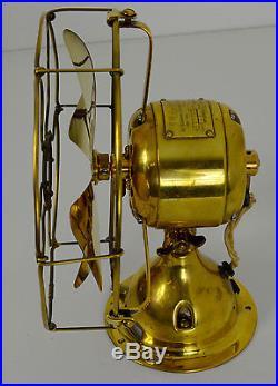 Very Nice Emerson Electric Trojan All Brass Desk Fan