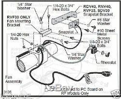 Majestic Monessen Stove Blower Fan Kit Factory Oem Kit