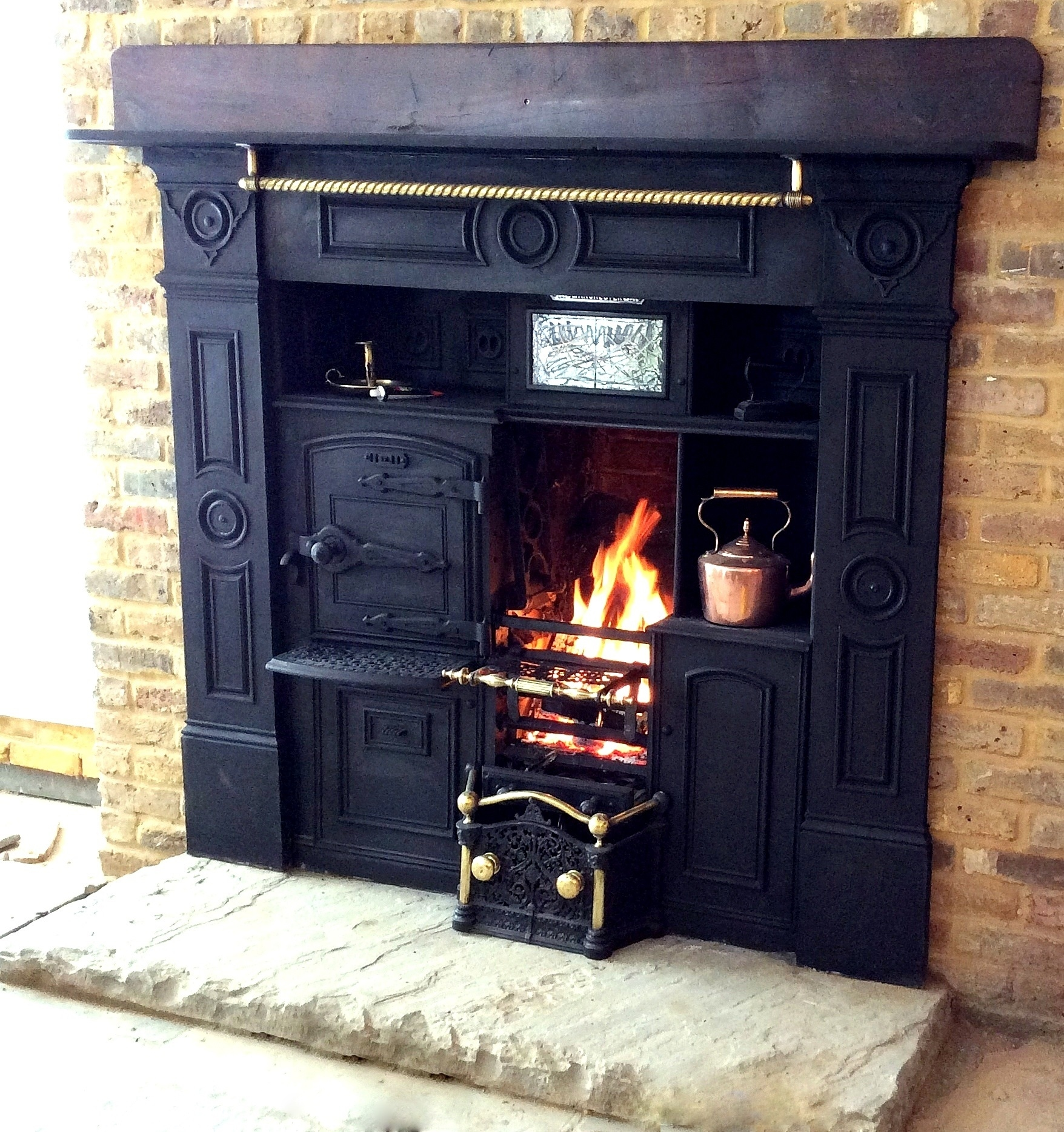 cast iron kitchen stove small space tables for antique fireplaces ranges cheshire plus wood burning multi fuel range supplied fitted city house in london