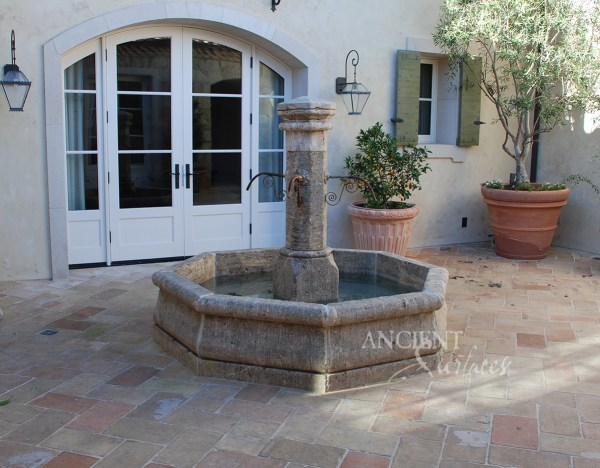 Provence Style Inclosed Courtyard Featuring Antique Stone