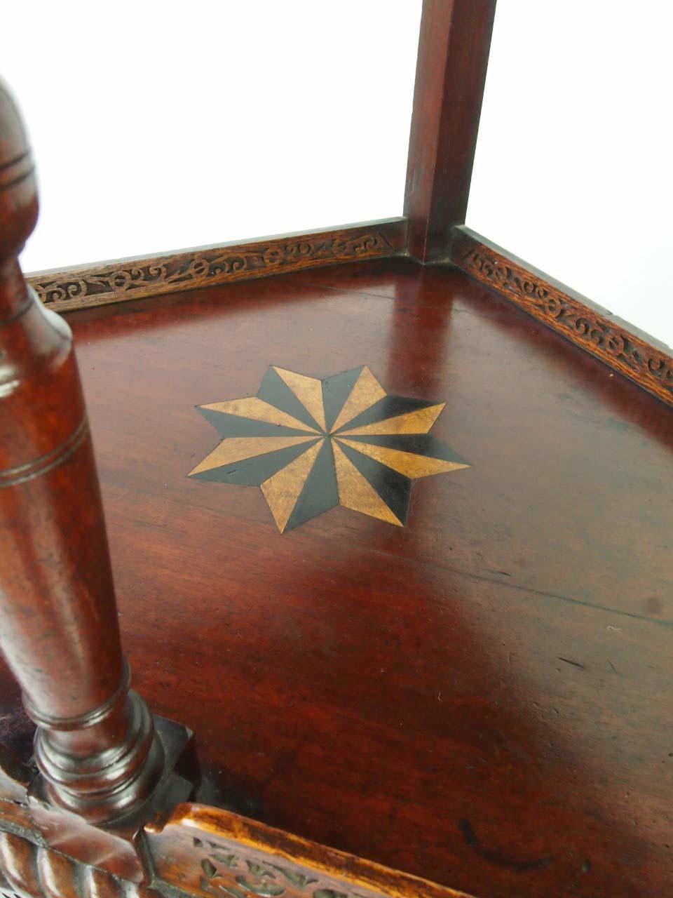 Antique Victorian Floor Standing Corner Cupboard For Sale