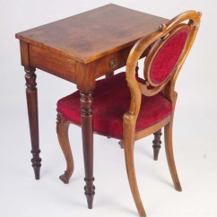 Card Table And Chairs Discount Rocking Small Antique Victorian Writing Desk For Sale - Side