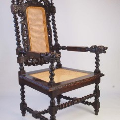 Barley Twist Chair Swing Size Large Antique Victorian Gothic Revival Throne