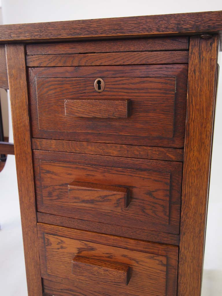 Small Vintage Oak Desk Circa 1930s For Sale