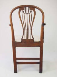Antique Georgian Open Armchair Desk Chair For Sale