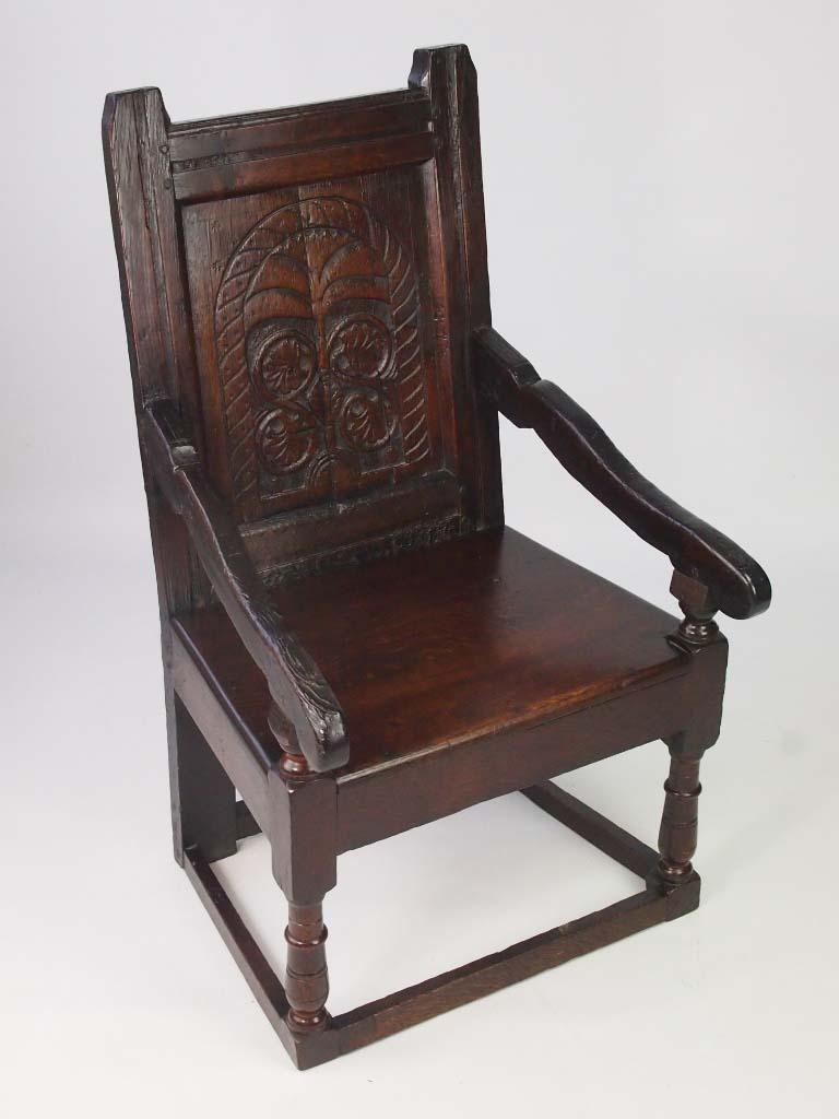 Oak Wainscot Chair 17th Century  Later