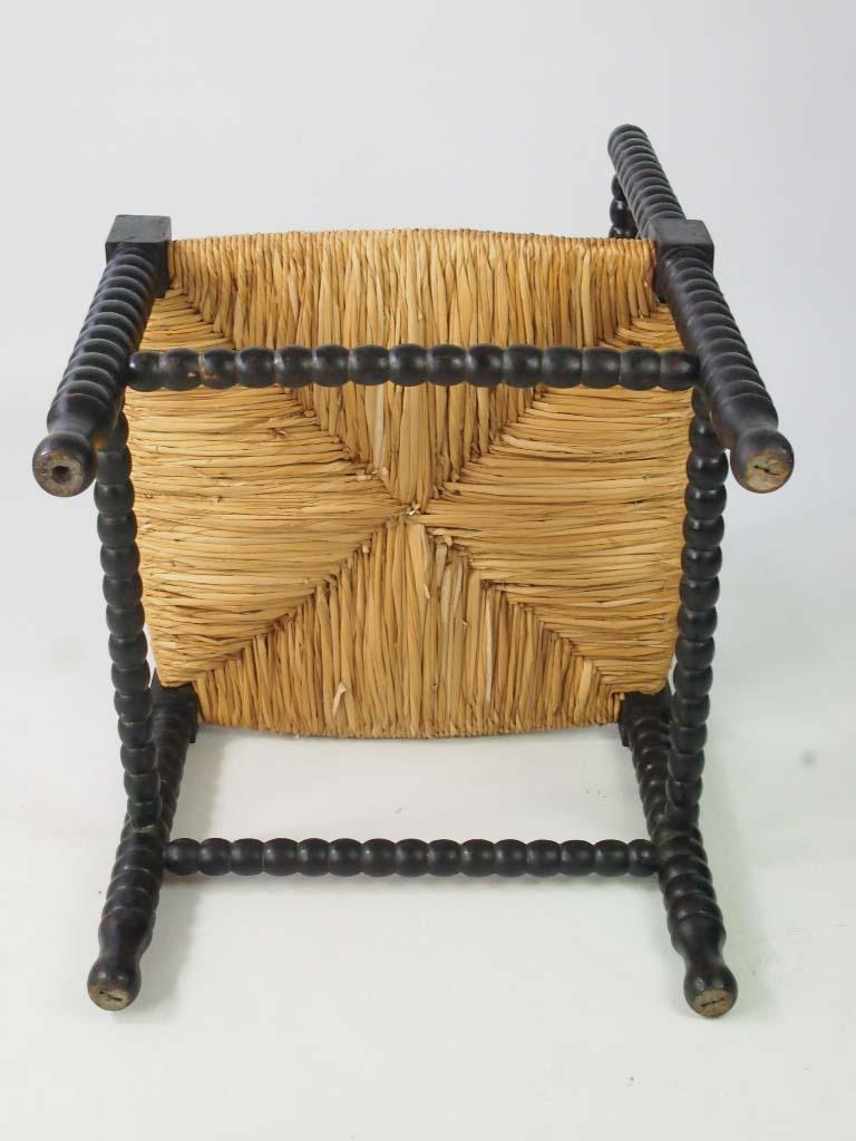 Antique Arts  Crafts Bobbin Turned Corner Chair