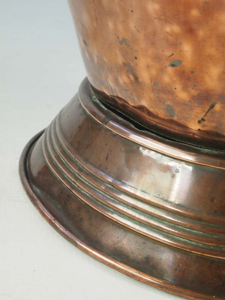 Antique Copper Log Bin  Coal Bucket