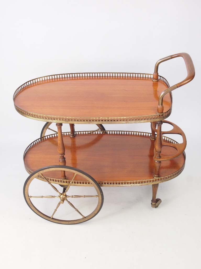 chairs on wheels uk overstock chaise lounge vintage mid-century italian drinks trolley