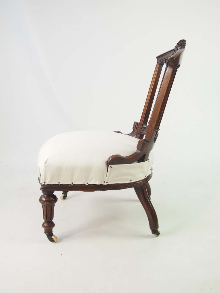 Chairs For Bedroom Small Antique Victorian Chair / Dressing Table Chair