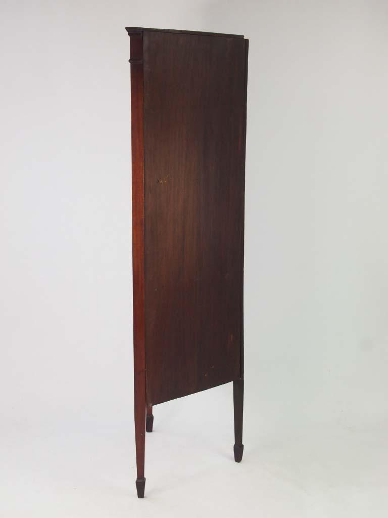 Antique Mahogany  Inlaid Standing Corner Cupboard