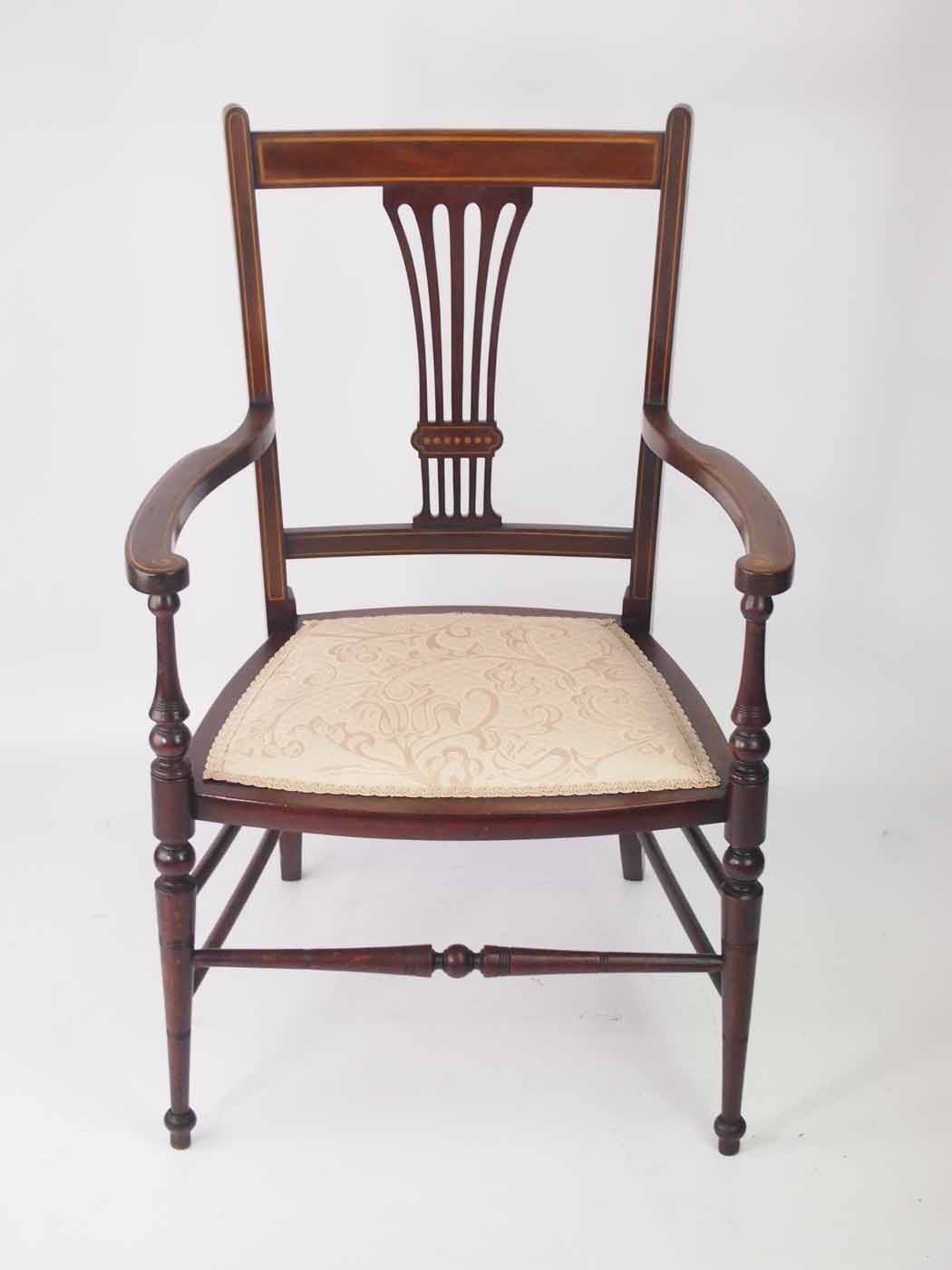 Small Arm Chairs Small Edwardian Open Armchair Bedroom Chair