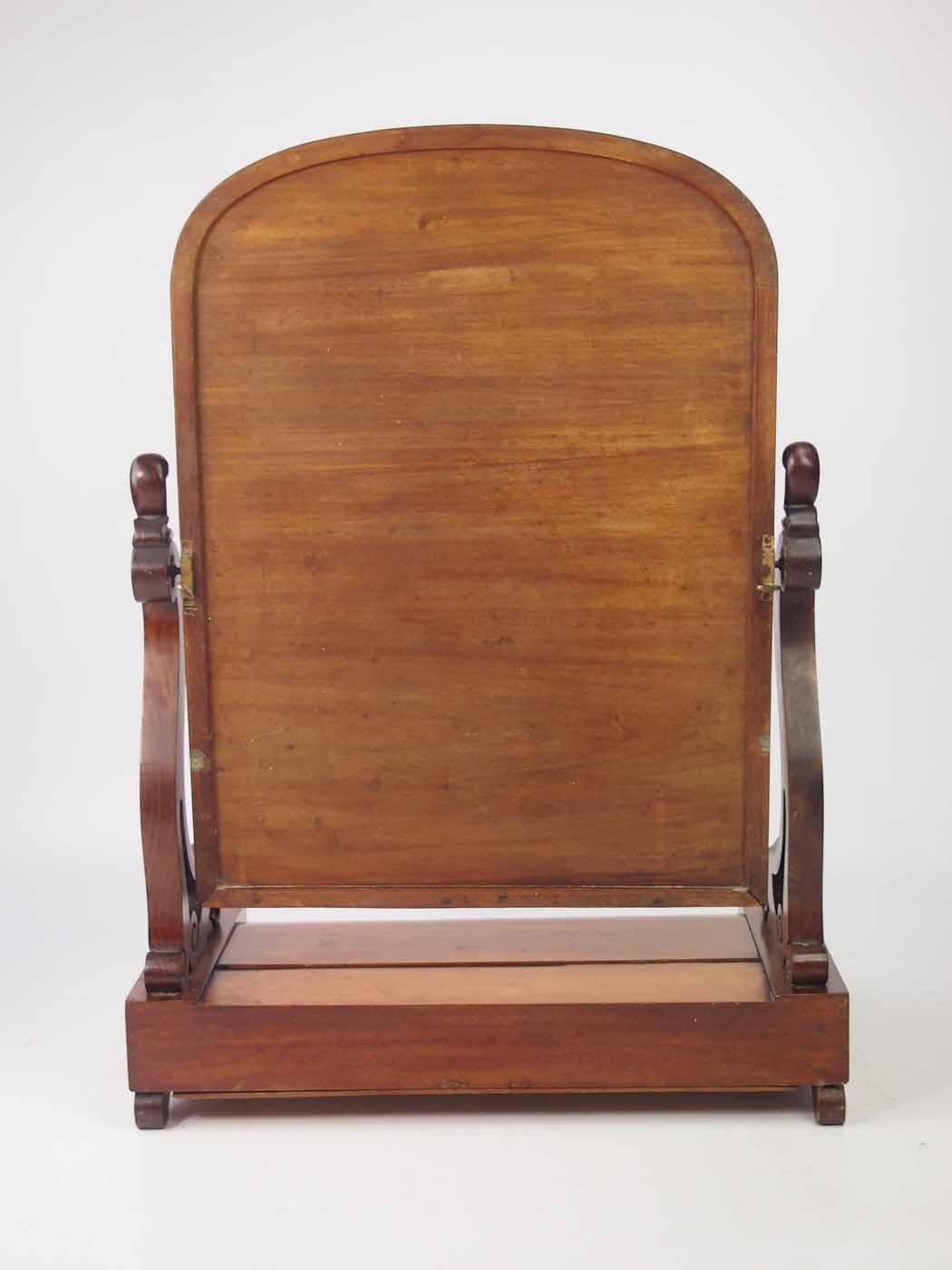 Victorian Mahogany Dressing Table Mirror  Toilet Mirror