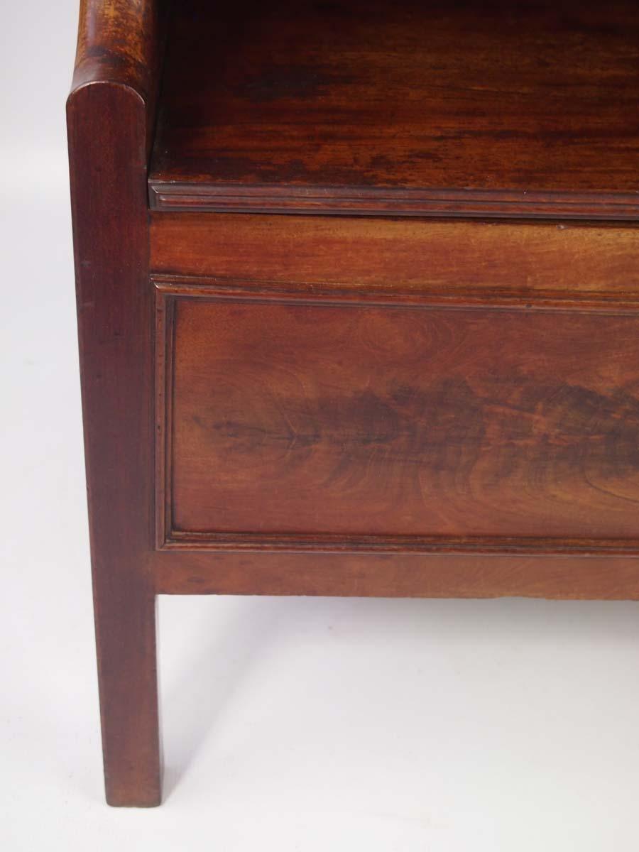 Antique Georgian Mahogany Bedside Cabinet  Commode