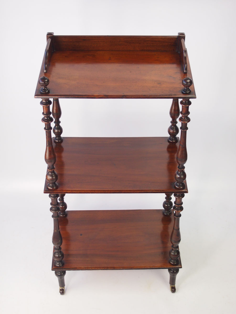 Antique Victorian Mahogany 3 Tier Whatnot