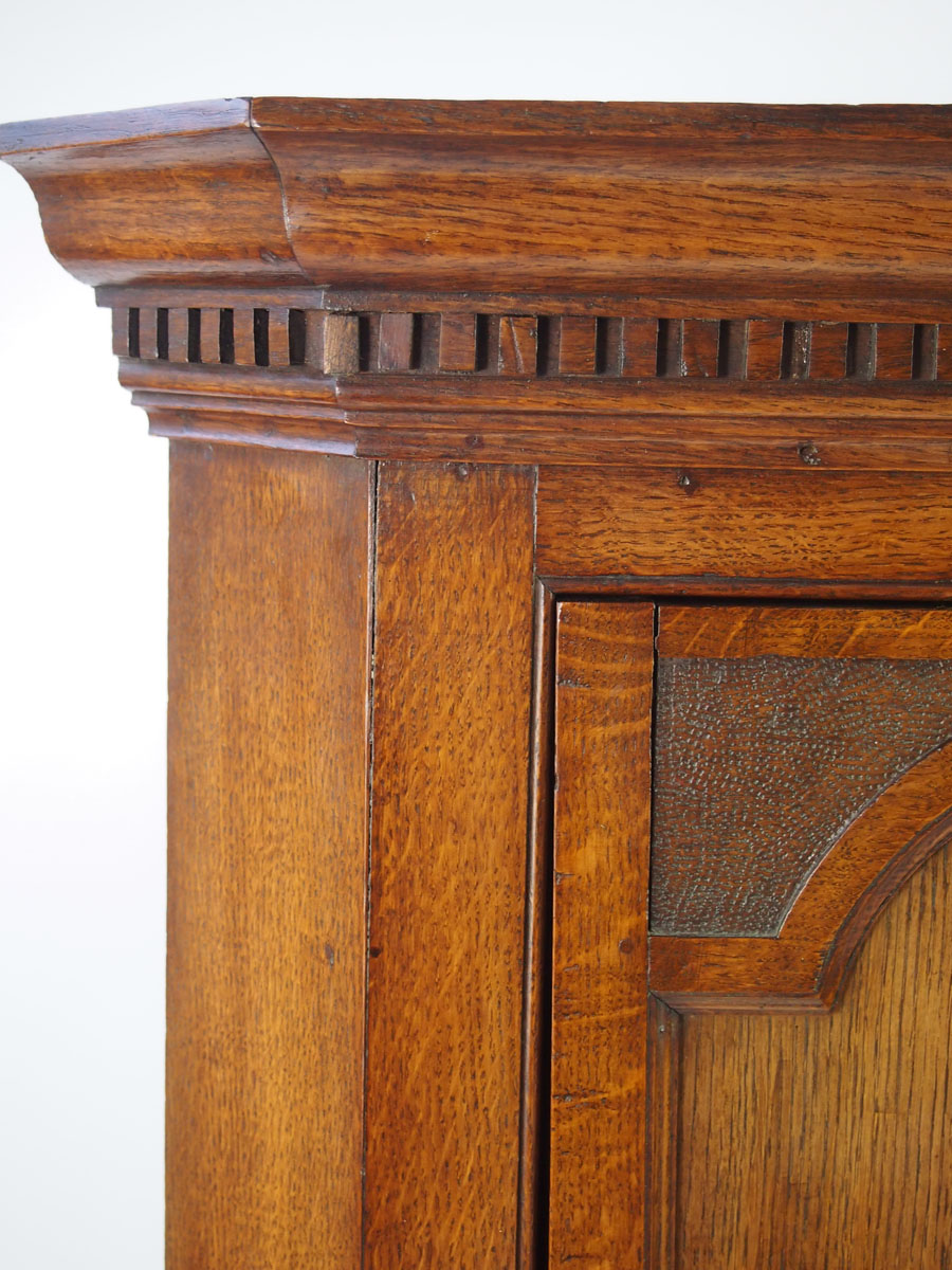 Antique Victorian Oak Corner Cupboard